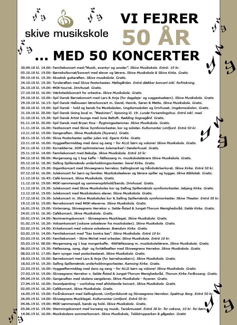 50 koncerter - Skive Musikskole